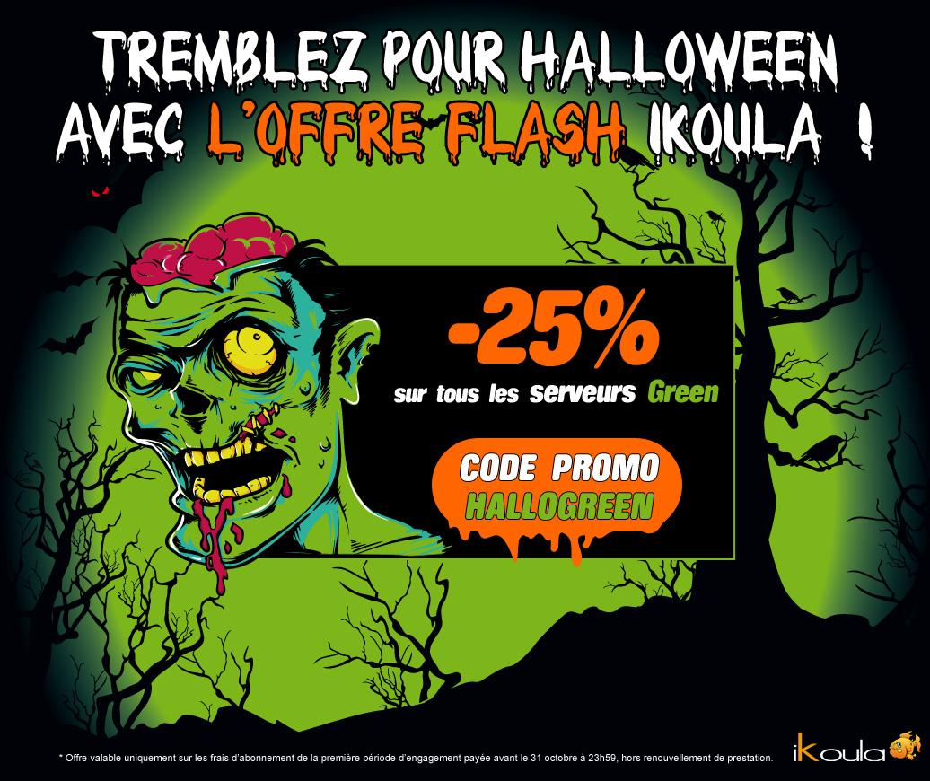 Tremblez pour Halloween avec l'offre Flash Ikoula !