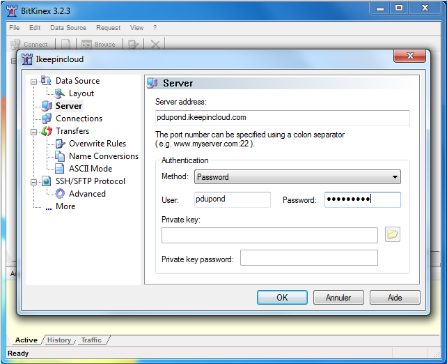 Le transfert en SFTP sur votre stockage en ligne - 1