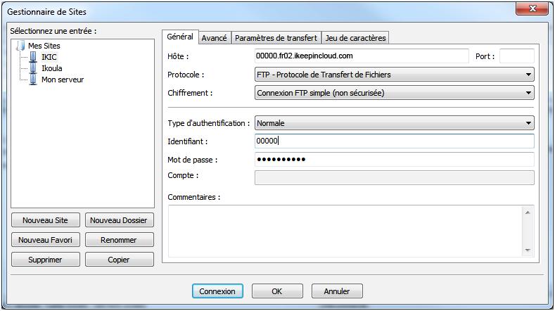 Transferts ftp(s) et sftp sur votre stockage en ligne avec Filezilla - 2