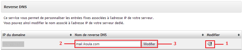 reverse modifier serveur dedie Modifier reverse